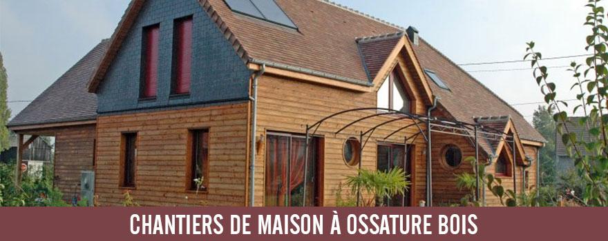 Lien de nos réalisations : maison à ossature bois