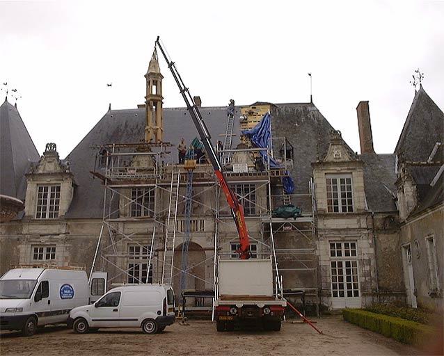 Restauration d'une façade de château