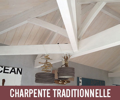 Lien de nos réalisations : charpente traditionnelle