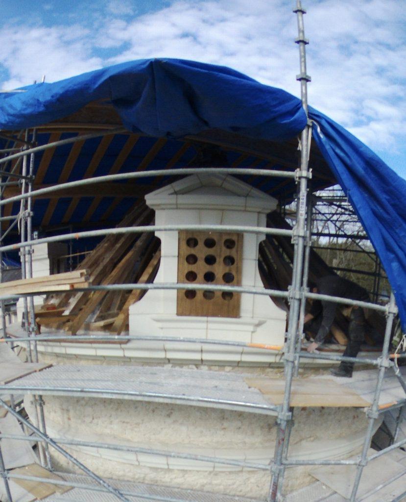 restauration du colombier du Château de Villesavin (41)